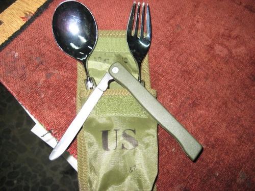 cuchillo - neceser militar - con estuche us army -cazador