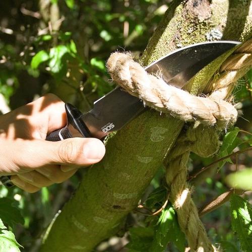 cuchillo táctico sog tech bowie mango kraton acero 27.94 cm