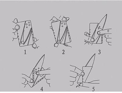 cuchillo táctico viaje plegable tarjeta campamento boyscout