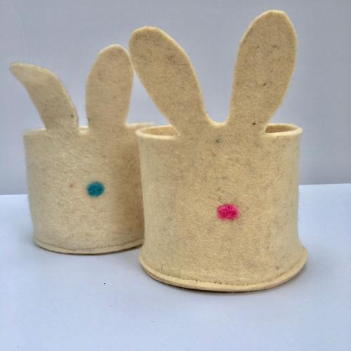cuenco conejo cuenco de fieltro