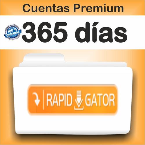cuentas premium rapidgator x 365 dias  ( 12 meses )