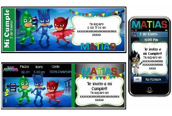 Cumpleaños Tematico Heroes En Pijamas Pj Masks