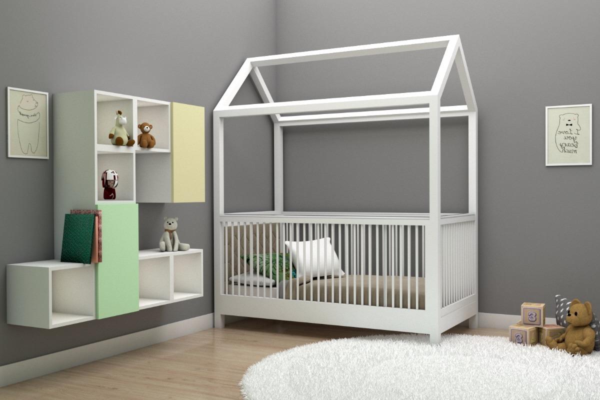 Cuna Para Bebé Cama Entrenadora Modelo Casita Decen - $ 7,880.00 en ...