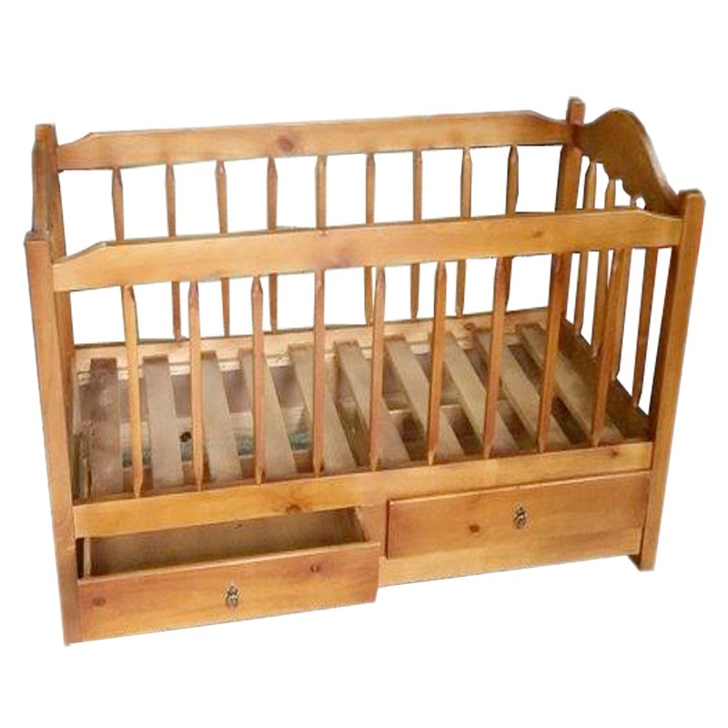 Cuna cama ni o bebe para bebe con 2 cajones en madera gh for Cunas para bebes de madera
