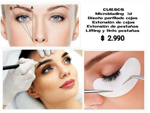 curso pestañas extension, microblading; cejas, cosmetologia