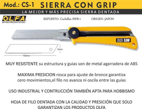 cutter olfa cs-1 cortante sierra con grip para madera