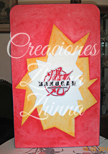 c.zhinna adorno centro cotillon bakugan 1m el personaje
