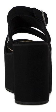 darkness sandalia dama taco alto plataforma dos tiras ancha