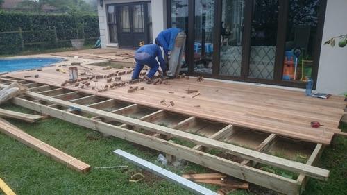 deck, todo pino curado desde $ 2500 el m2. pérgolas, cabañas
