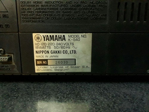 deck yamaha modelo k550 inmaculado!!