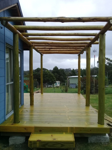 decks, pérgolas y aleros en madera. piriápolis maldonado