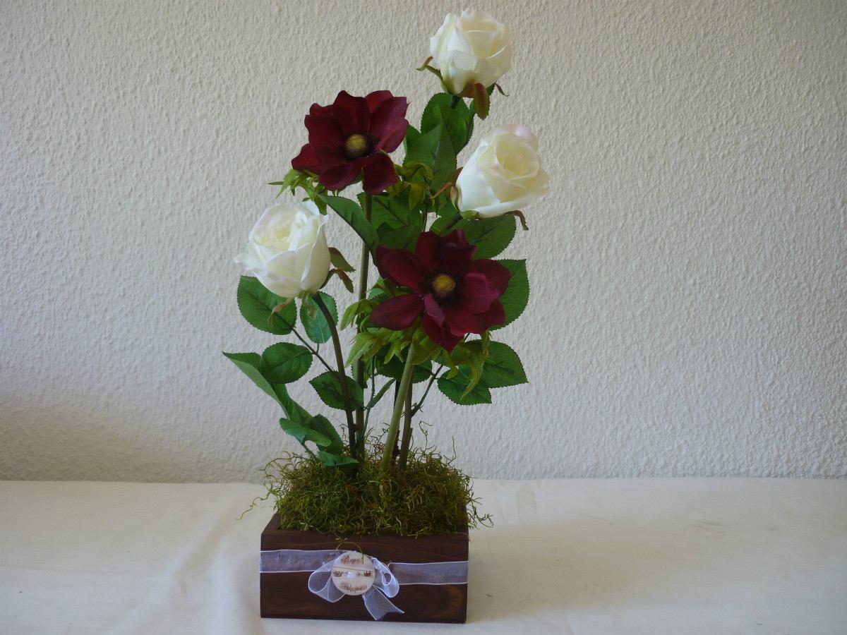 Decoracion Arreglos Florales Flores Artificial Centro Mesa 850