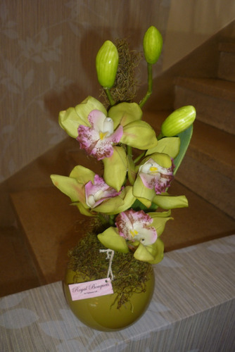 decoracion centros flores artificiales