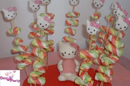 decoración de mesa. cumpleaños infantiles. motivo kitty.