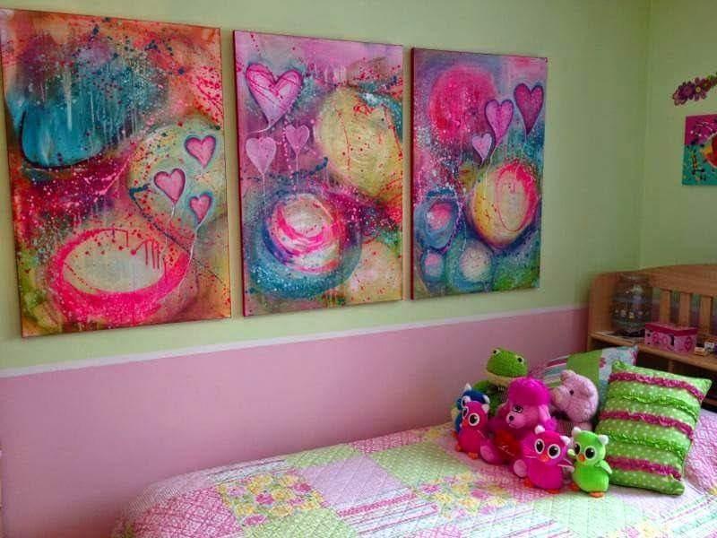 Decoracion Dormitorio Juvenil Cuadros Personalizados 90000 En - Cuadros-dormitorio-juvenil
