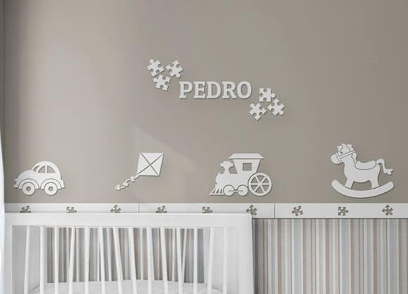 Decoracion Dormitorio/cuarto Bebe Mdf