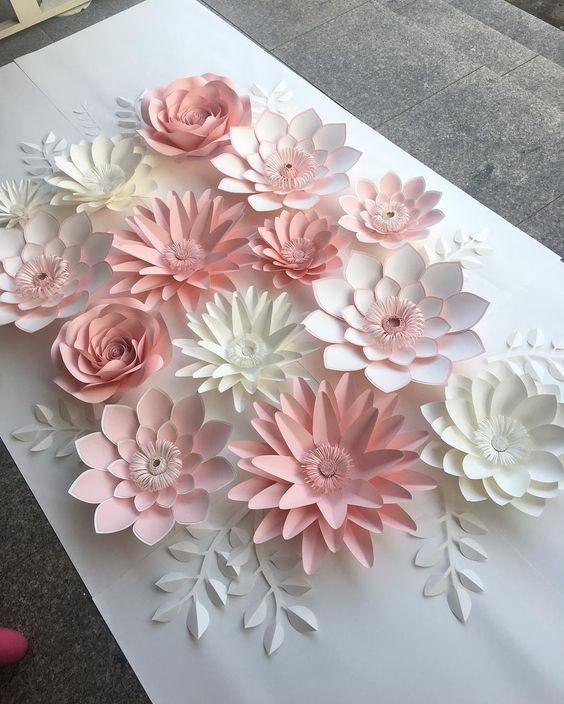 Decoración Flores Papel Pack Fiesta