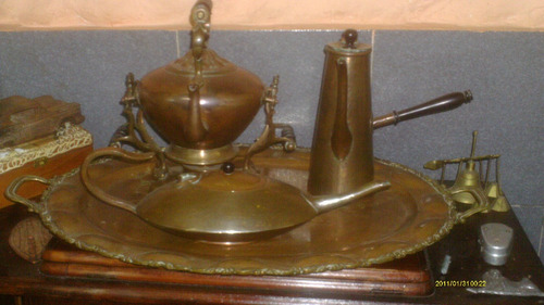 decoracion  juego antiguo de cobre rebajado mejor decoracion