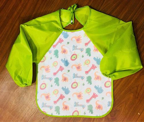 delantal babero infantil talle único nuevo impermeable color