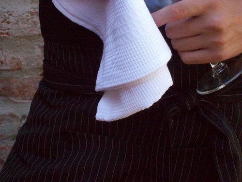 delantal de mesero negro por unidad estudiantes gastronomía