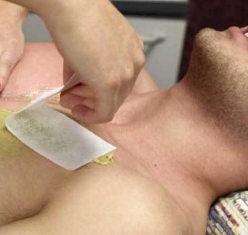 depilación masculina a la cera en roll-on