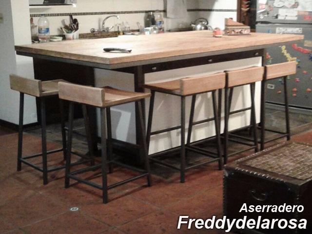 Desayunador Mesa De Cocina Madera Antigua - $ 99,00 en Mercado Libre