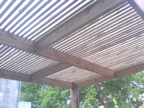 desck, pergolas y similares, c/ o s/barandas cubiertos semi