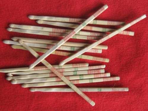 descuento del 10% agujas de bambu para tejido en crochet n°6