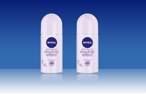 desodorante nivea en rollon double effect violet x 2