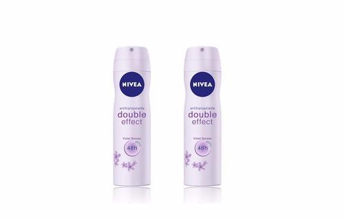 desodorante nivea en spray double effect violet senses x 2