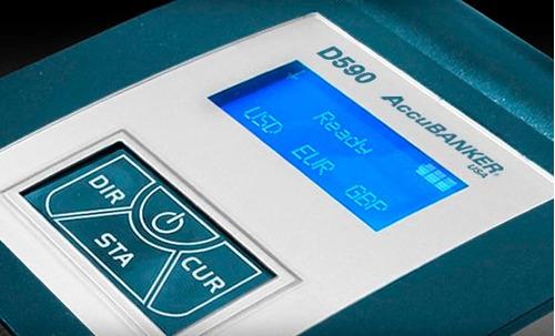 detector de dólares con lector de n° de serie e impresora