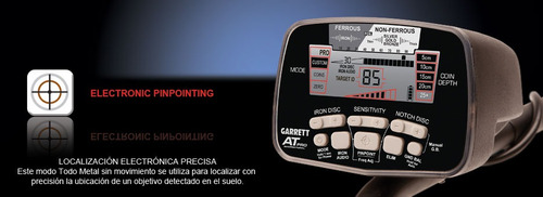 detector de metales garrett at pro int. sumergible + bolso