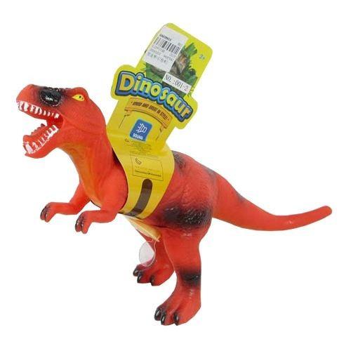 dinosaurio de goma con rugido 35x20 cm - hay de todo!
