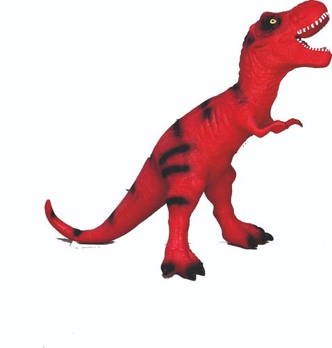 dinosaurio gigante t rex de goma 45 de altura con sonido cs