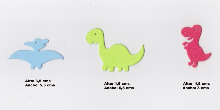 Dinosaurios formas en goma eva o cartulina decoraciones x - Formas goma eva ...
