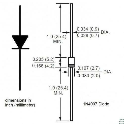 diodo uf4007 1000 volt 1 amp  recuperacion rapida  arduino