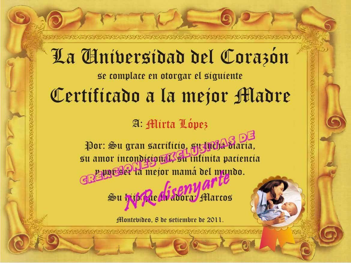 Diploma Con Marco, Día Del Padre, Madre, Abuelo, Maestro - $ 299,90 ...