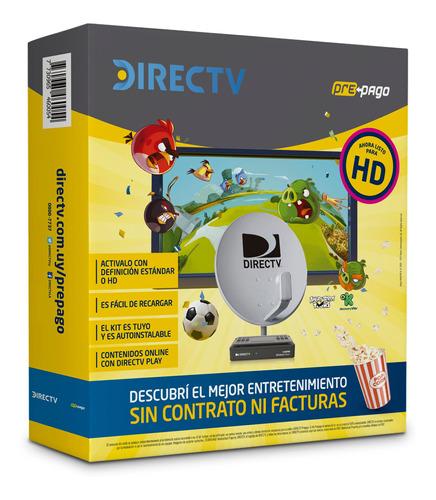 directv pre pago kit canalera hd + antena universo binario