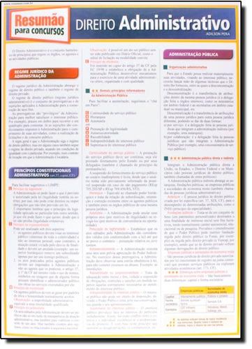 direito administrativo coleção resumão concursos de adilson