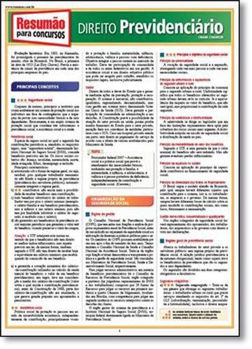 direito previdenciário coleção resumão para concursos de oma