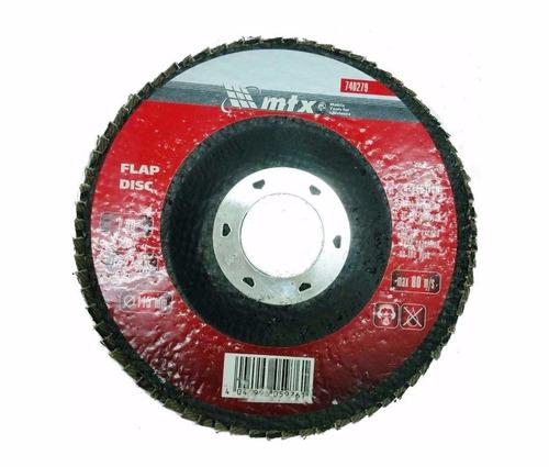 disco de lixa flap 4.1/2 grão 120 mtx p/ lixadeira c/ 50 pçs