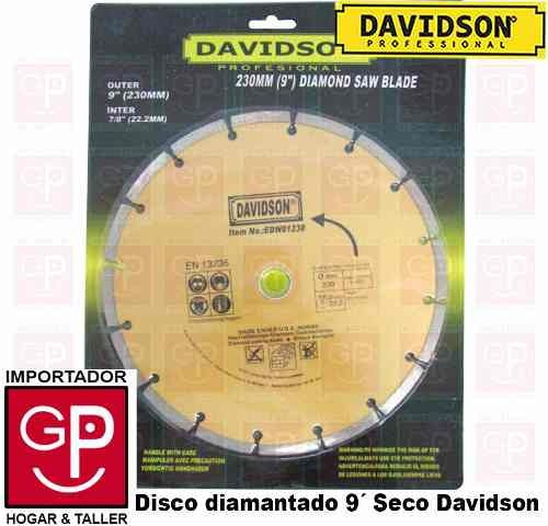 disco diamantado 9´ seco davidson