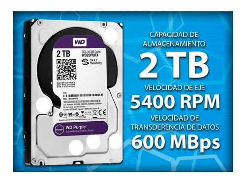 Disco Duro Wd Purple Surveillance 1 Tb