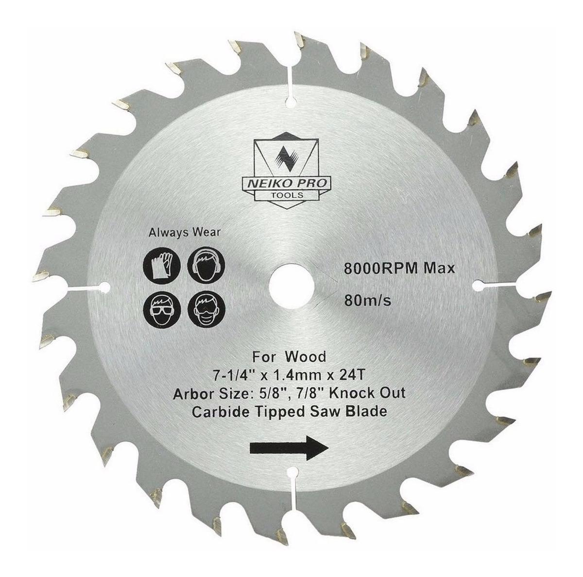Hoja de sierra circular 185/mm para discos de corte de madera circular 185/x 20 mm 24 dientes