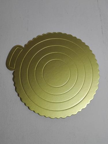 disco para torta dorado oro 18 cm
