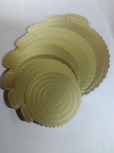 disco para torta dorado oro 34 cm