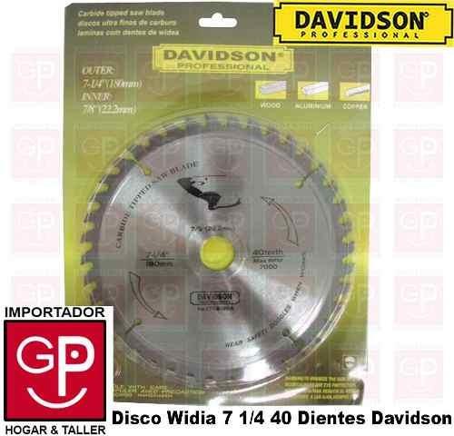 disco widia 7 1/4´40d davidson