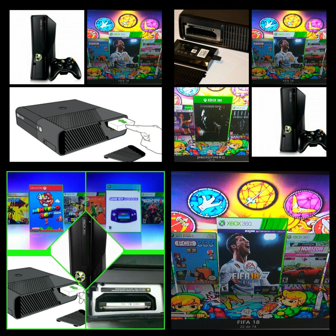 Disco Xbox 360 Rgh 320 Gb Pronto Para Jugar 1000 Juegos 1 700 00