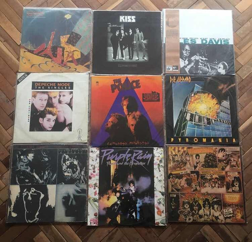 discos de vinilo de rock, blues y jazz