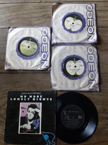 discos vinilo simples beatles.george.jhon.paul